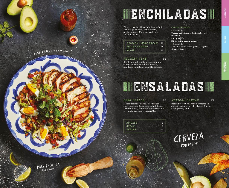 Enchiladas menu