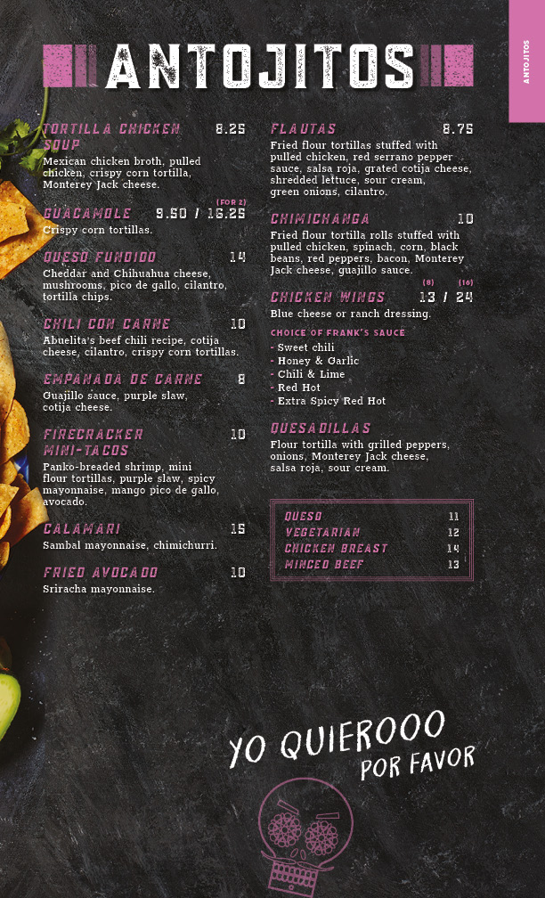 antojitos menu