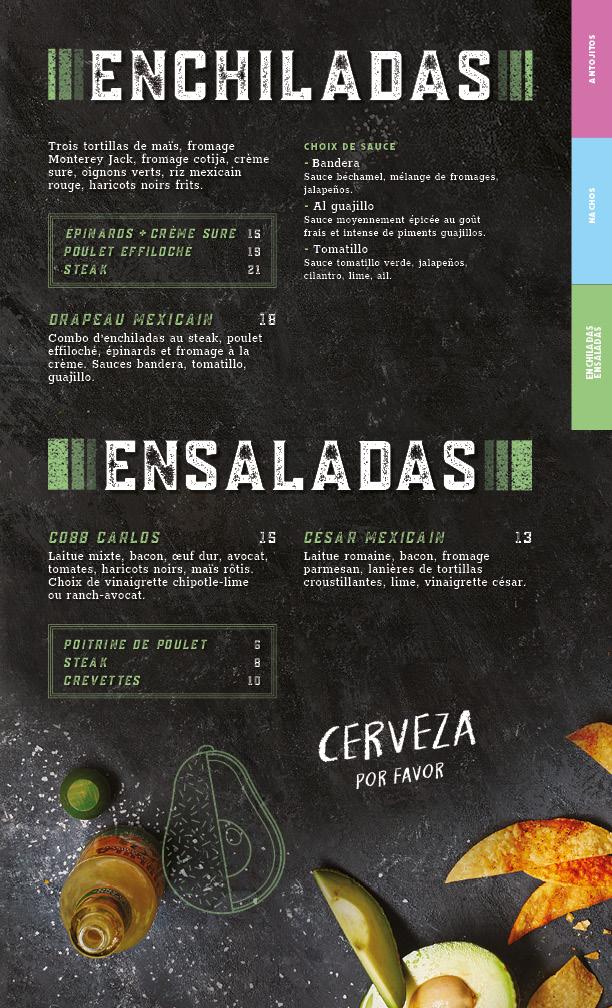 menu enchiladas