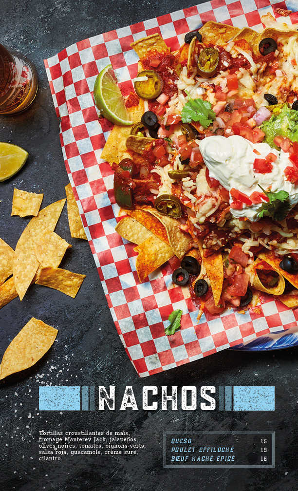 menu nachos